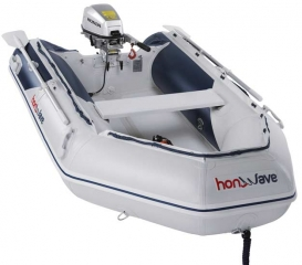 Pripučiama valtis su pripučiamu dugnu Honda T 27 IE 2