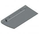 Betono glaistyklės apdailos geležtė PZ60F-12x23