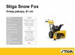 Sniego valytuvas Stiga Fox (61 cm)