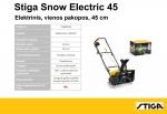 Elektrinis sniego valytuvas Stiga Snow Electric (45 cm)